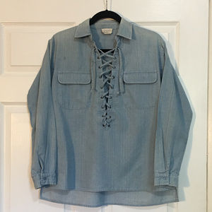 Denim Pull Over